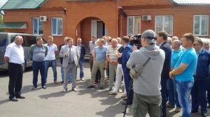 """На территории асфальтобетонного завода АО """"Фатежское ДРСУ 6"""""""