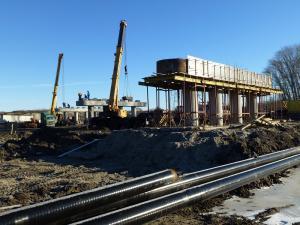 Строительство путепровода, с. Лебяжье, 3+700 - 3+800